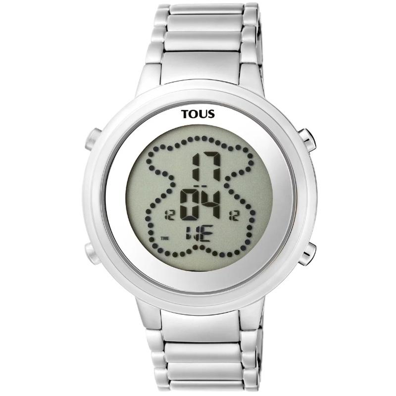 Reloj Tous digital Digibear en acero para mujer 900350025.