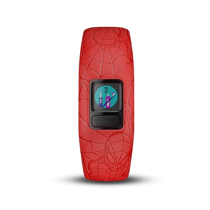 Reloj Garmin vívofit jr. 2 con el diseño de Spiderman, ref 010-01909-16.