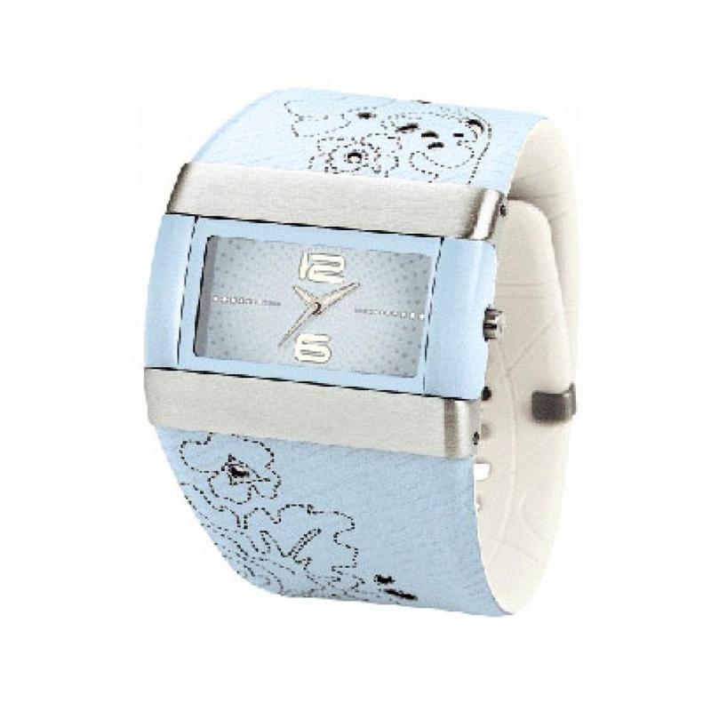 Reloj Nike de mujer con correa ancha, de piel y caucho celeste, WC0024420.