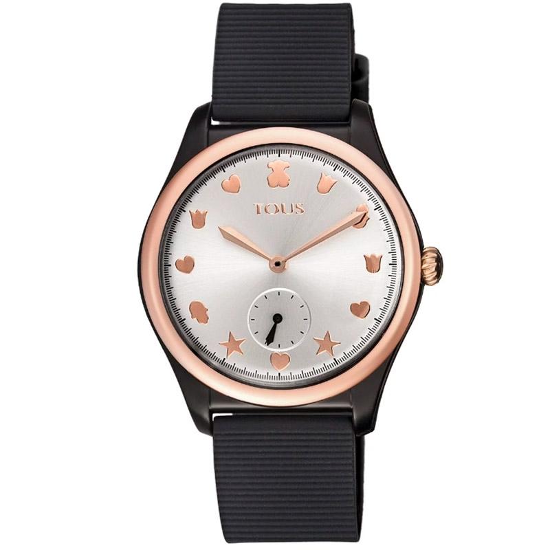 Reloj Tous de mujer Free Fresh en negro y detalles rosados, 900350085.