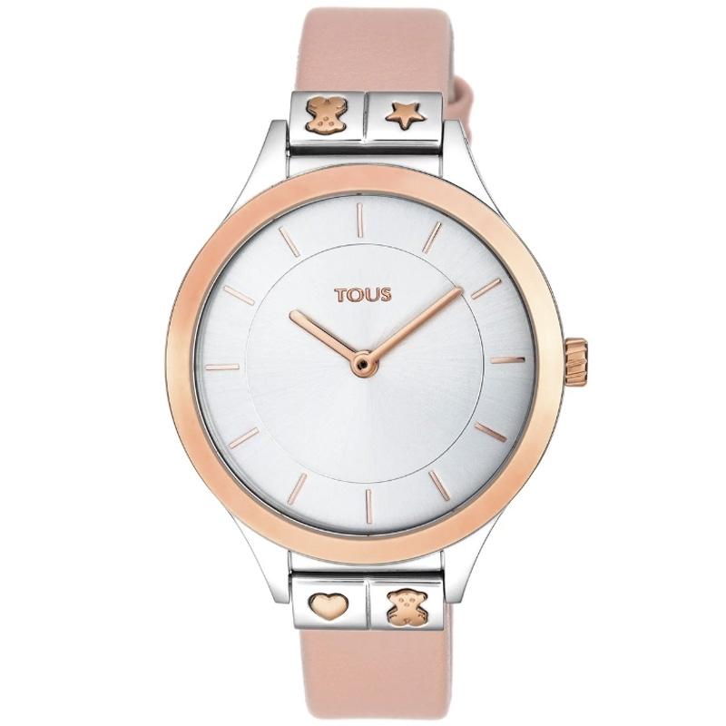Reloj Tous Lord Nude de mujer, en acero y rosado con correa de piel, 900350145.