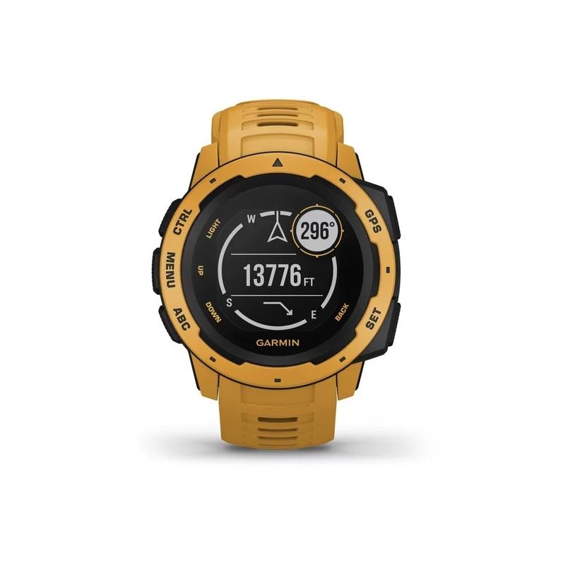Reloj Garmin Instinct™ en resina amarilla, con GPS, 010-02064-03.