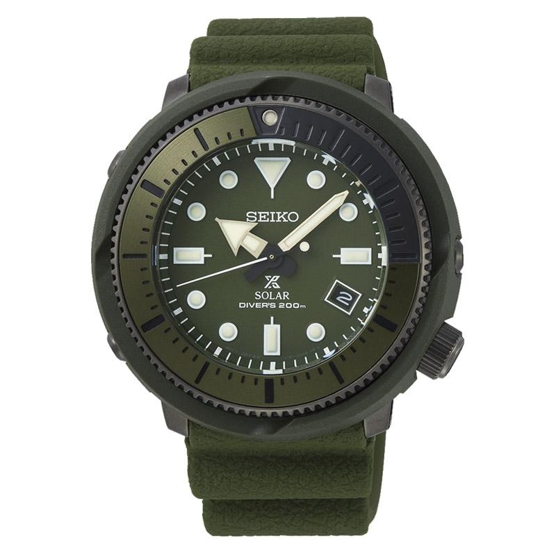Reloj Seiko Prospex Solar Street Series Green, divers 200m verde, SNE535P1.