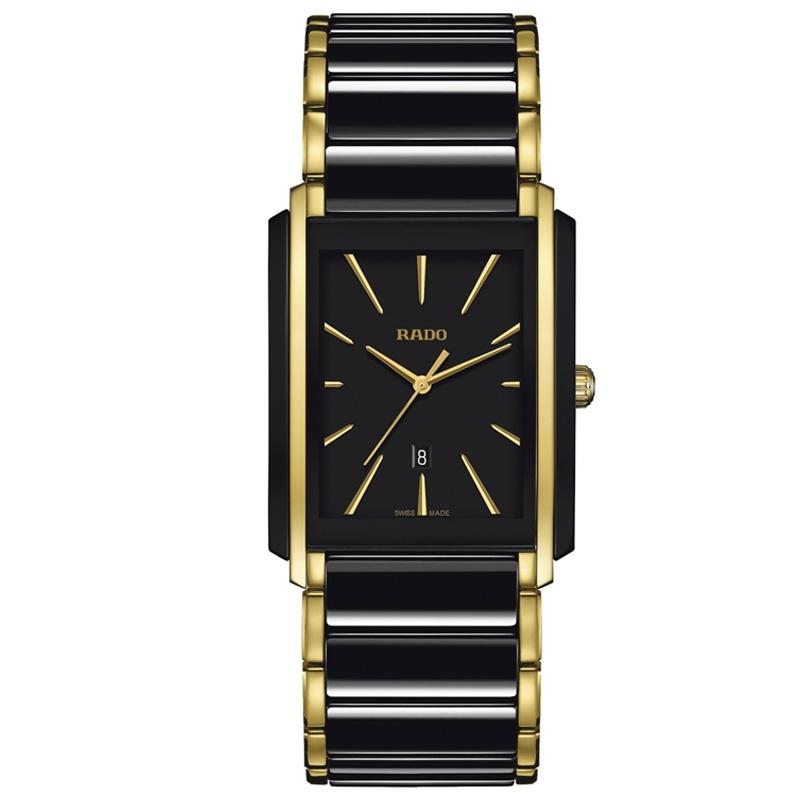 Reloj Rado Integral para hombre en cerámica negra y dorado, ref. R20204162.