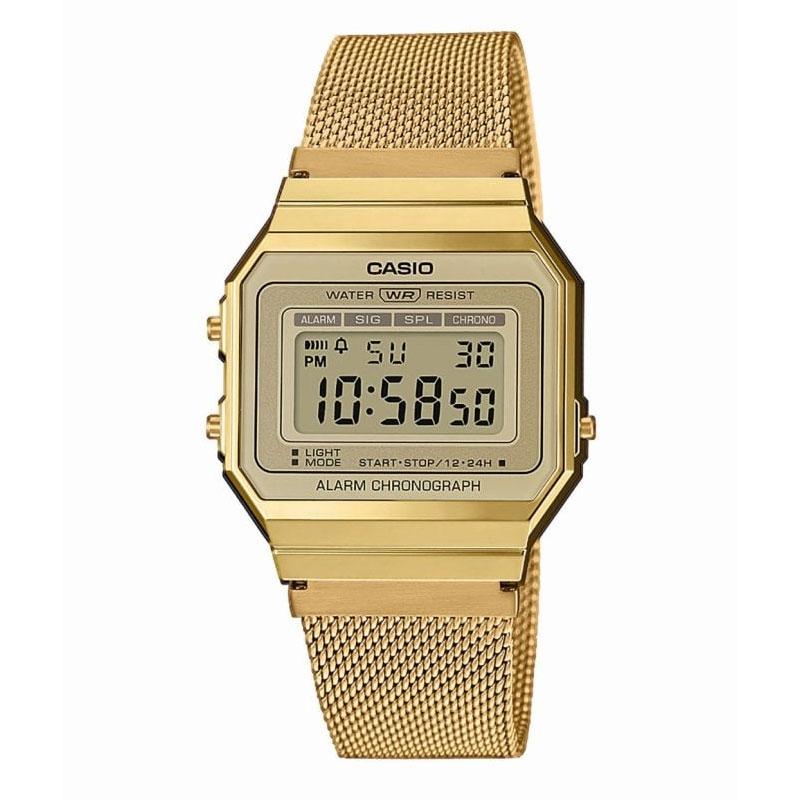 nuevo concepto 4fda6 8eb89 Reloj Casio dorado Retro Collection con correa de malla A700WEMG-9AEF.