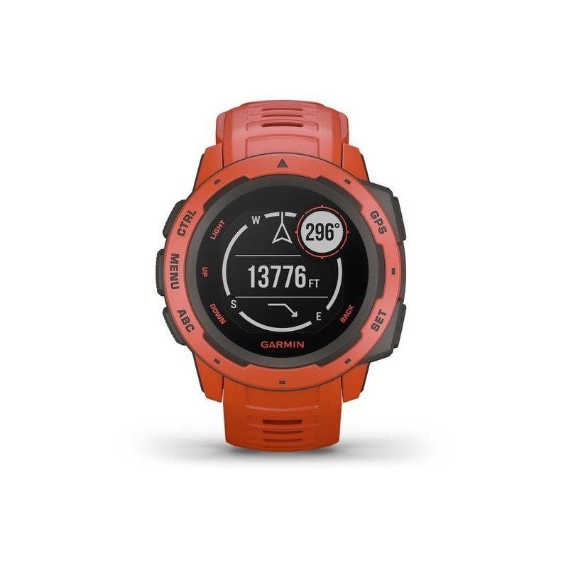 Reloj Garmin instinct™ en resina roja con GPS, 010-02064-02.