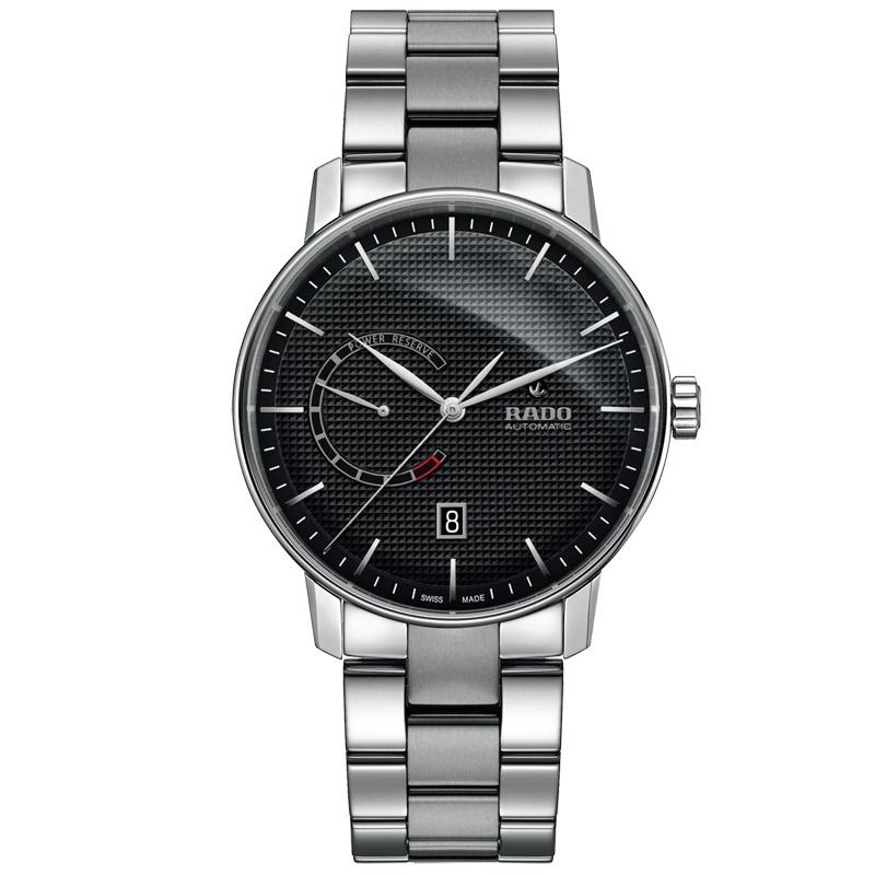 Reloj Rado Coupole Classic automático en acero con esfera negra, R22878153.