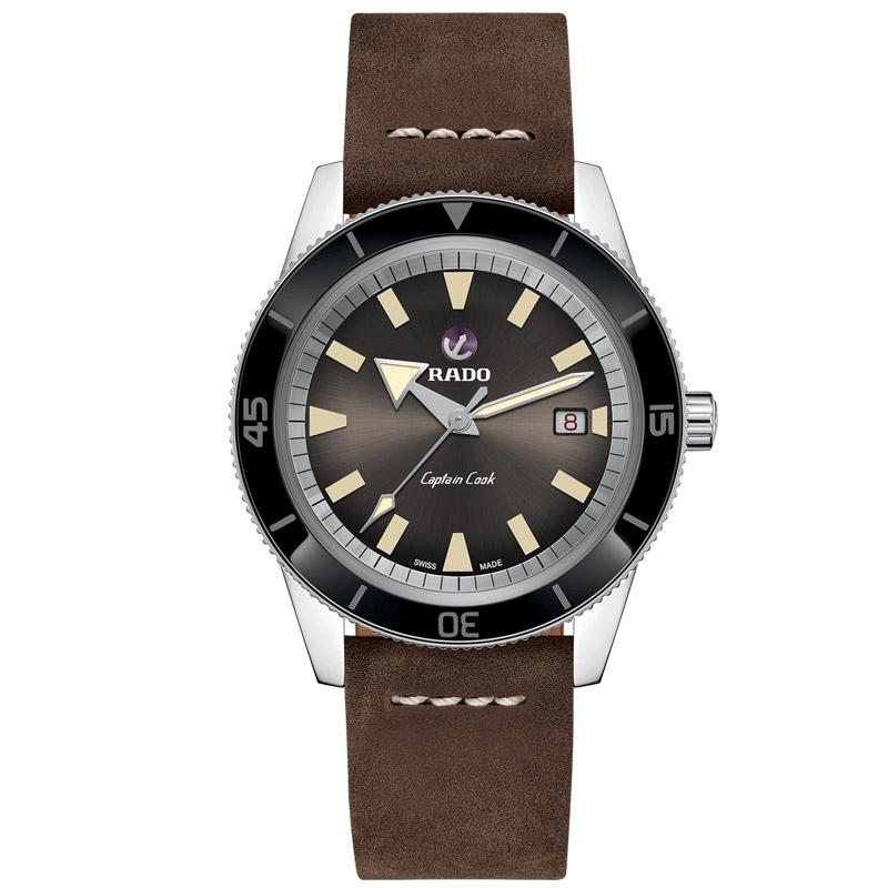 Reloj Rado HyperChrome XL Captain Cook automático con piel marrón, R32505305.