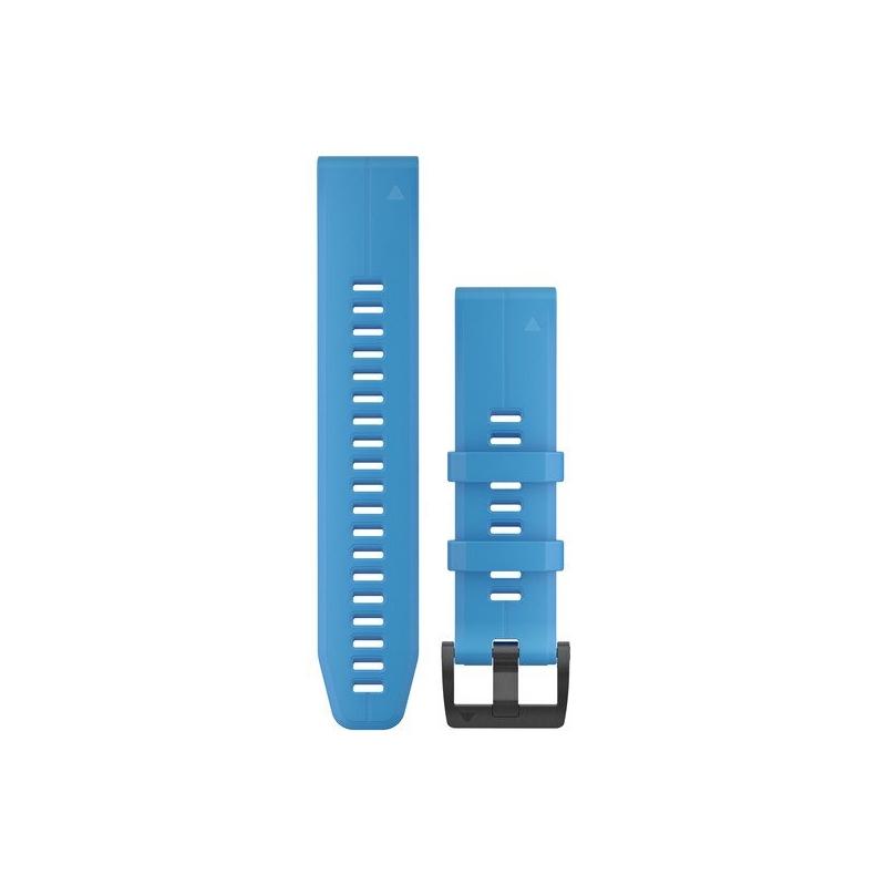 Correa Garmin en silicona azul cian con sistema QuickFit®, 010-12740-03.