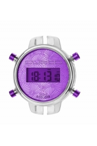 Reloj Watx by Custo digital desmontable morado RWA1032.