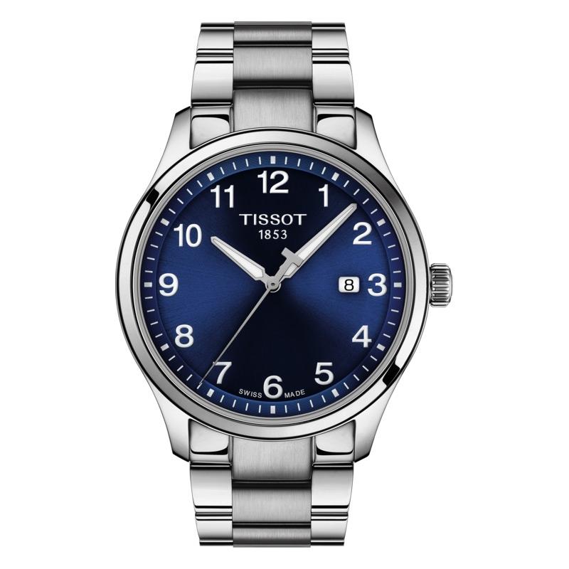 Reloj Tissot Gent XL Classic de hombre en acero con esfera azul, T1164101104700.