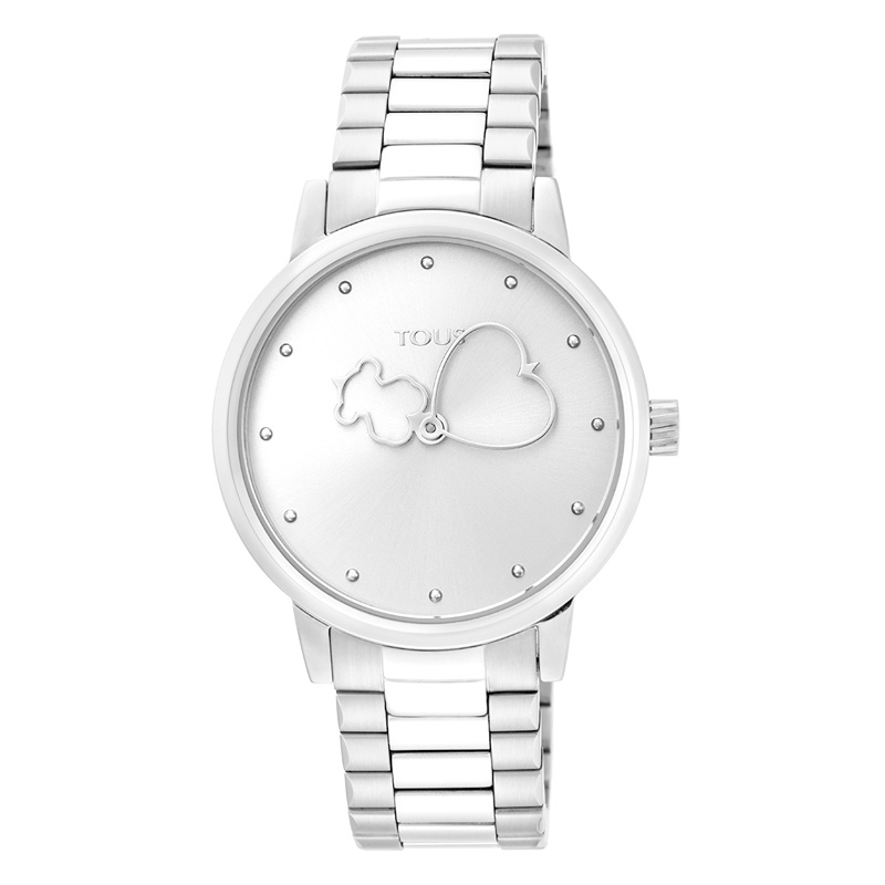 Reloj Tous Bear Time de mujer en acero, 900350305.