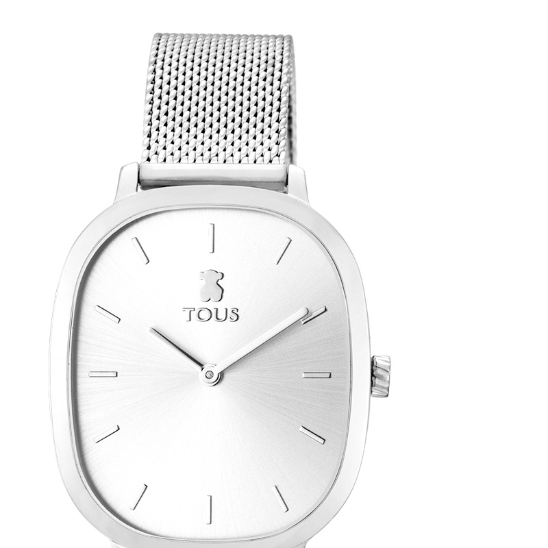 ❤️ Reloj Tous Heritage de mujer caja rectangular y malla