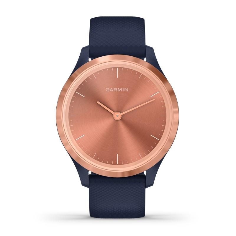 Reloj Garmin vívomove 3S de mujer en azul con detalles rosados, 010-02238-03.